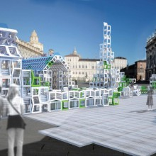 [1] Mobilier urbain utilis comme module constructif  UIA World Congress Turin 2008  Construction vnementielle  Ferpect: J.Koempgen + J.Aich