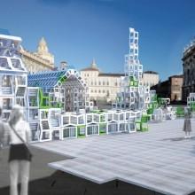 [1] Mobilier urbain utilisé comme module constructif — UIA World Congress Turin 2008 — Construction évènementielle — Ferpect: J.Koempgen + J.Aich