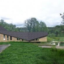 Maison sur l'étang