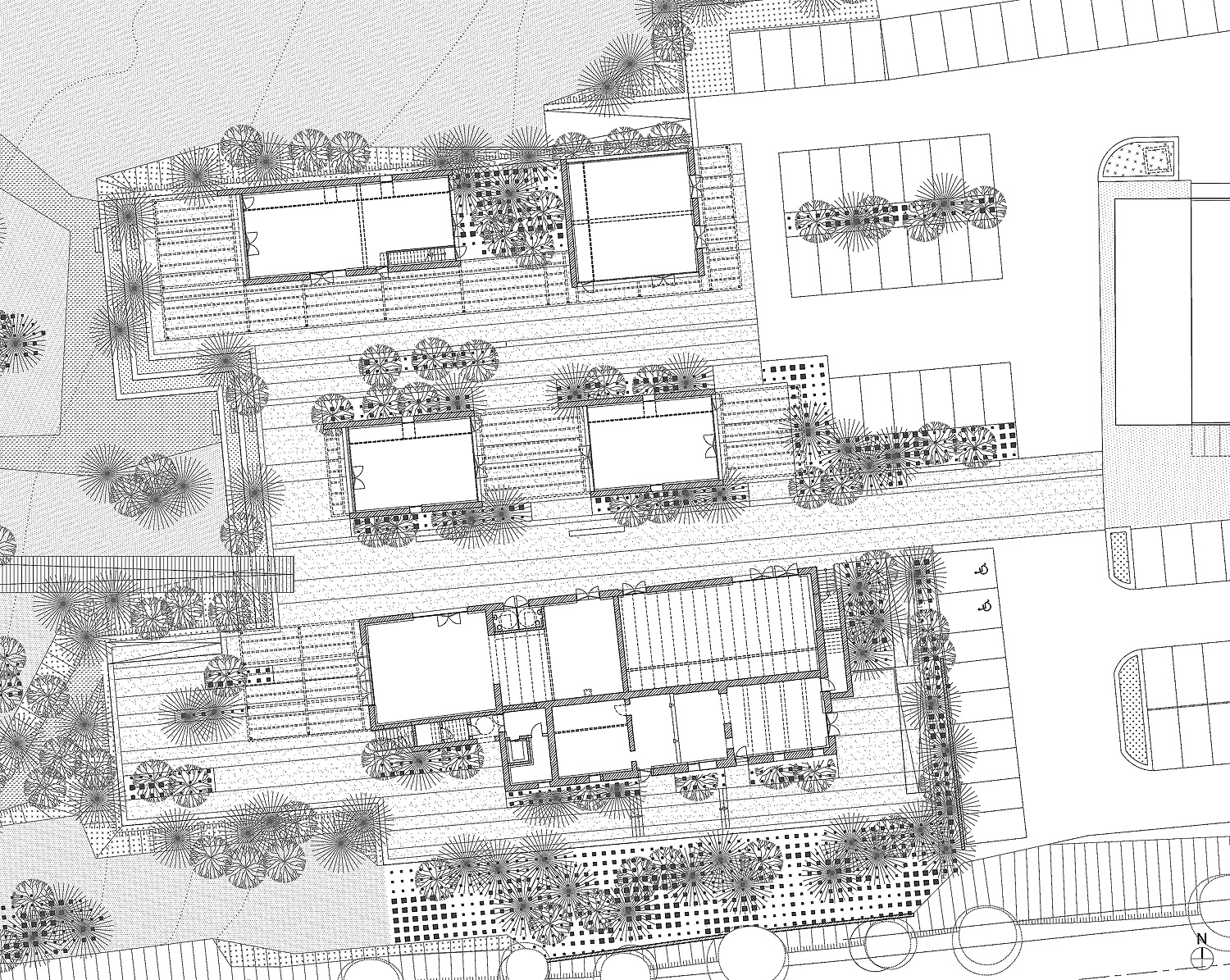 Dessin d 39 architecture d 39 un plan de masse for Dessin plan architecture