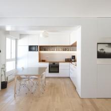 Cuisine white & wood