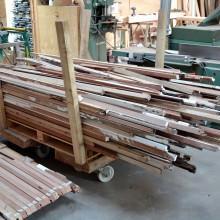 [12] Prédébit de bois après démantelement et délignage 2 faces.Surcyclage bois, 100 détours.